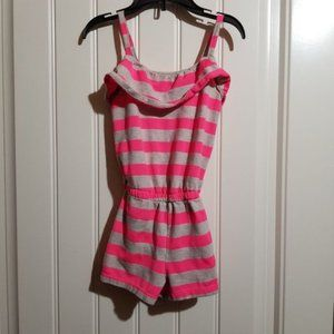 Girl's Size S Hot Pink and Gray 1989 Place Romper